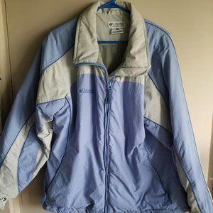 COLUMBIA Lined Jacket Full Zip No Hood XL EUC Blue